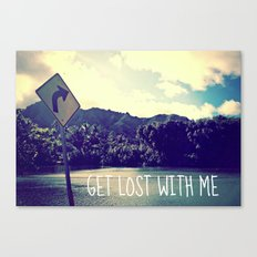 GET LOST on NORTH SHORE  Canvas Print