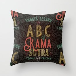 Kama Sutra Lessons Throw Pillow
