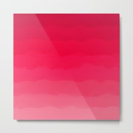 Perfectly Pink Ombre Metal Print