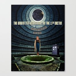 Doctor Who and the Abandoned Power Plant Canvas Print