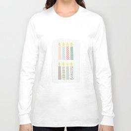 candles pattern Long Sleeve T-shirt
