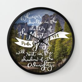 Psalm 91 with Background Wall Clock