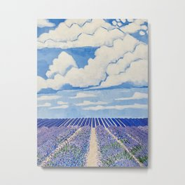 Lavender Fields Forever  Metal Print