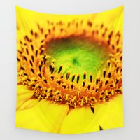 sunflower Wall Tapestries featuring Sunflower by Falko Follert Art-FF77