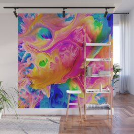 Colorful energetic abstract flowing acrylic Wall Mural
