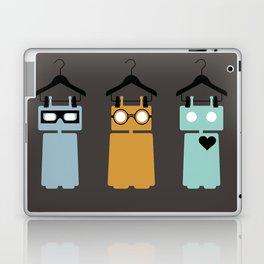 3 robots on hangers Laptop & iPad Skin