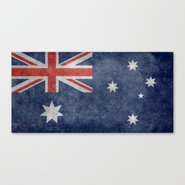 The National flag of Australia, Vintage version Canvas Print