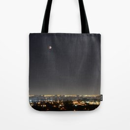 City Blood Moon. Tote Bag