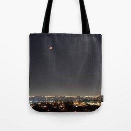 City Blood Moon. Tote Bag