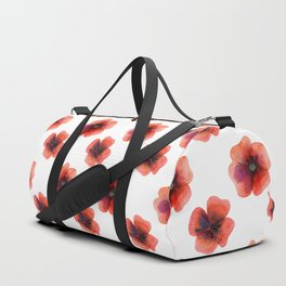 Meadow Red Poppies Duffle Bag