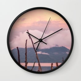Guatemala Atitlan Lake Volcan View Wall Clock