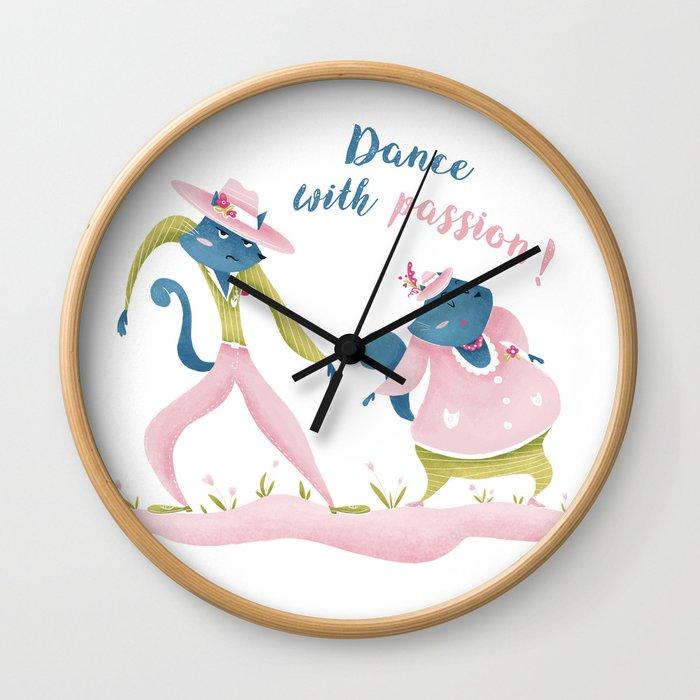 Dancing cats Wall Clock