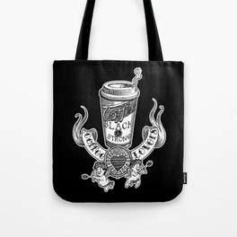 Coffee Lovers (black version) Tote Bag