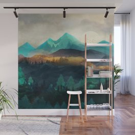 Green Wild Mountainside Wall Mural