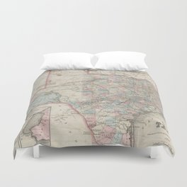 Vintage Map of Texas (1870) Duvet Cover