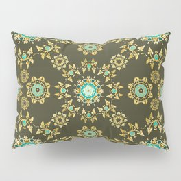 golden pattern Pillow Sham