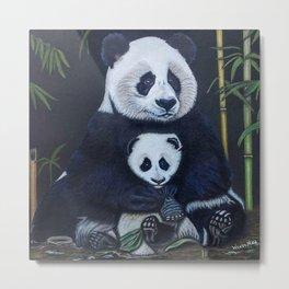 Giant Pandas Metal Print