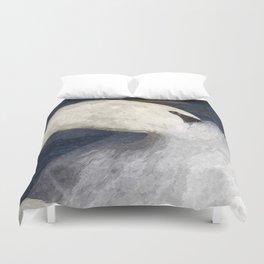 The Shy Swan Art Duvet Cover