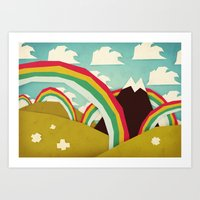 olivia joy Art Prints featuring Happy happy joy joy! by Yetiland
