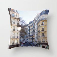 Streets of Paris. Throw Pillow