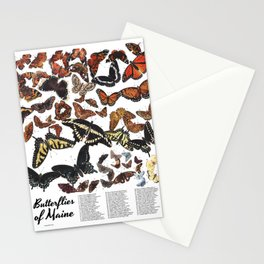 Butterflies of Maine Chart Stationery Cards