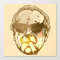 jack nicholson Canvas Prints featuring Jack Nicholson by BIG Colours