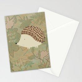 Hedgehog Best Day Ever Stationery Cards