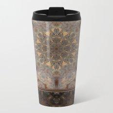 Copper Brown Terracotta Mandala and Tile Metal Travel Mug