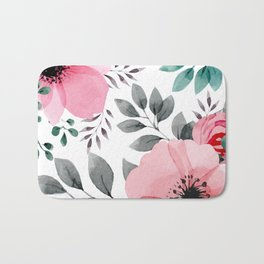 FLOWERS WATERCOLOR 14 Bath Mat