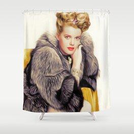 Janis Paige, Vintage Actress Shower Curtain