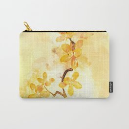 Yellow Tropical Branch #watercolor Carry-All Pouch
