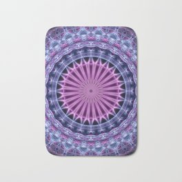 Pretty mandala in blue and violet tones Bath Mat