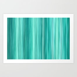 Ambient 5 in Teal Art Print