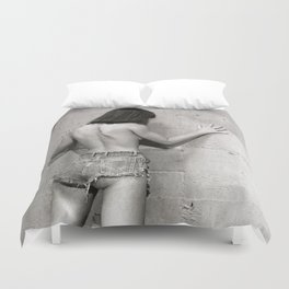 Only shades of Gray Duvet Cover