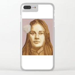 Original Oil Painting of Flower Child Clear iPhone Case