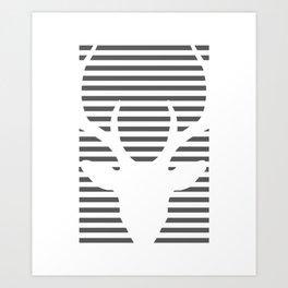 deer lines Art Print