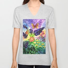 Bluebonnet Bouquet Unisex V-Neck