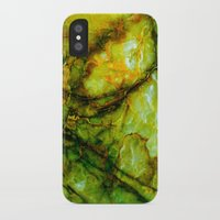 geology iPhone & iPod Cases featuring Marble by Patterns and Textures