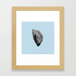 Blue Boulder Framed Art Print