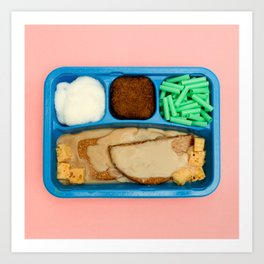TV Dinner - Mystery Meat Art Print