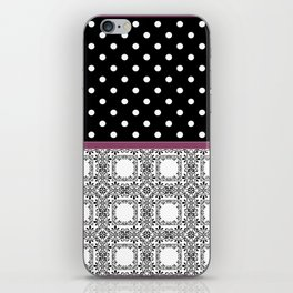 A combined decorative pattern . iPhone Skin
