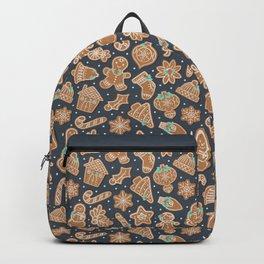 Gingerbread Cookies Blue Backpack