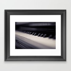 One small key to happiness is to stop and enjoy the music....  Framed Art Print