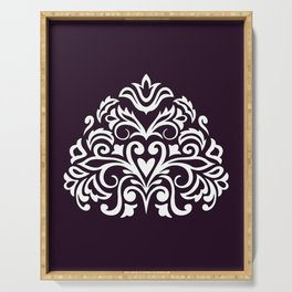 white damask composition1 Serving Tray
