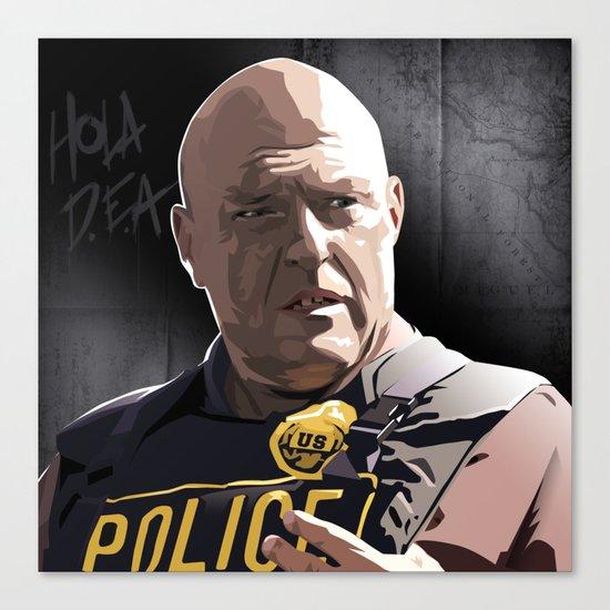 Breaking Bad Illustrated - Hank Schrader Canvas Print