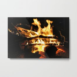 Crackling Fire Metal Print