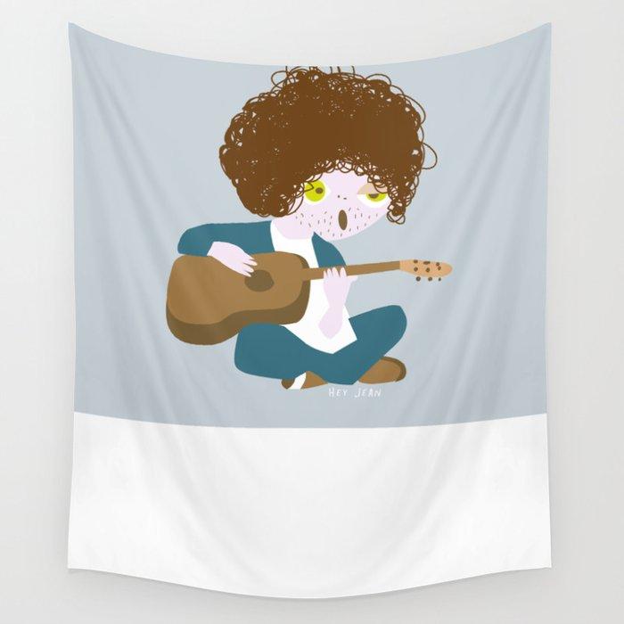 Curly Bob Wall Tapestry