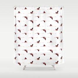 Flying Flamingos 5 Shower Curtain
