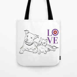 Cat & Dog LOVE Gifts Tote Bag