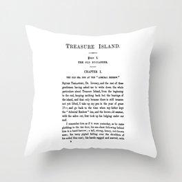 Treasure Island Robert Louis Stevenson First Page Throw Pillow
